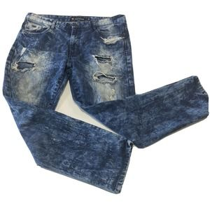 Southpole Mens Distressed Jeans 38x32